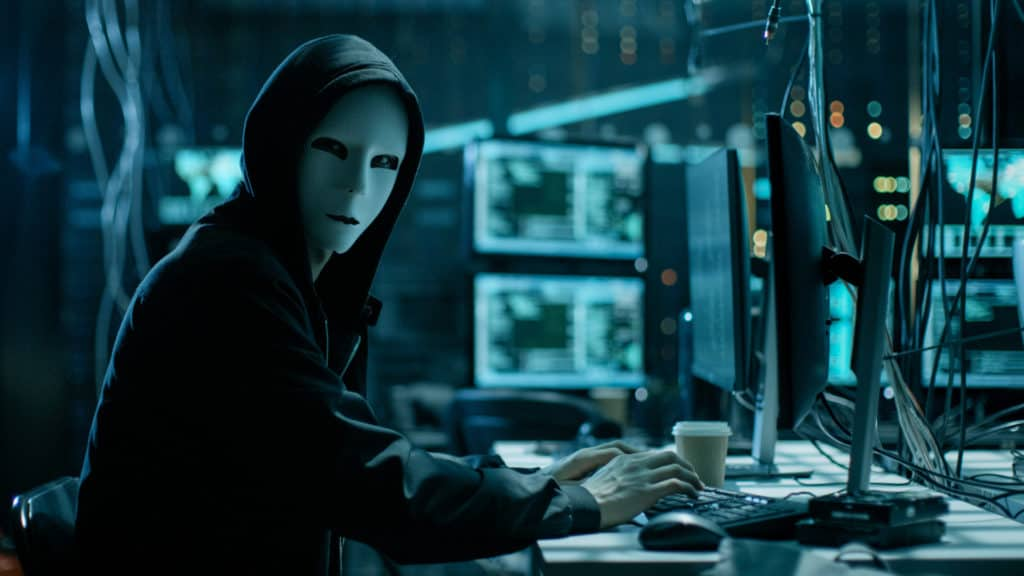 Computer hacker getting ready to breach this data